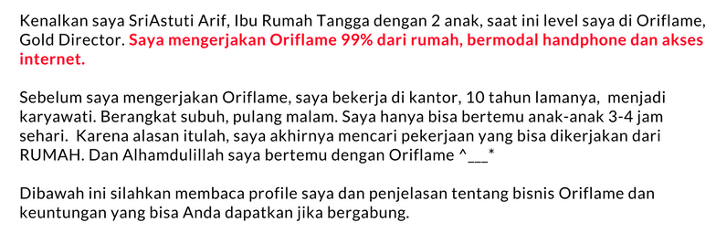 Bisnis Oriflame online