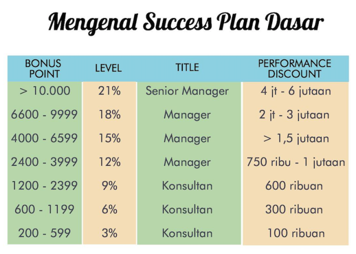 Sukses plan Oriflame